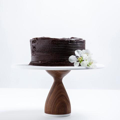 Walnut Cake Stand - 8 inches - Sweet Layer Cake