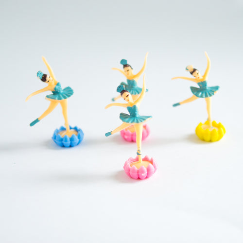 Blue Ballerina cake toppers with stand (4 pack) - Sweet Layer Cake