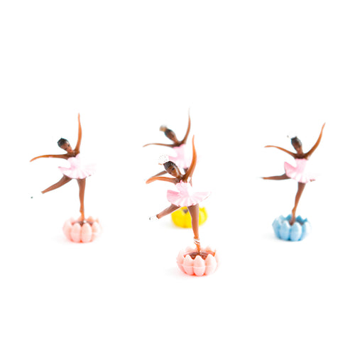 Pink Ballerina cake toppers (4 pack) - Sweet Layer Cake