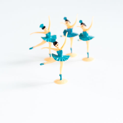 Blue Ballerina cake toppers (4 pack) - Sweet Layer Cake