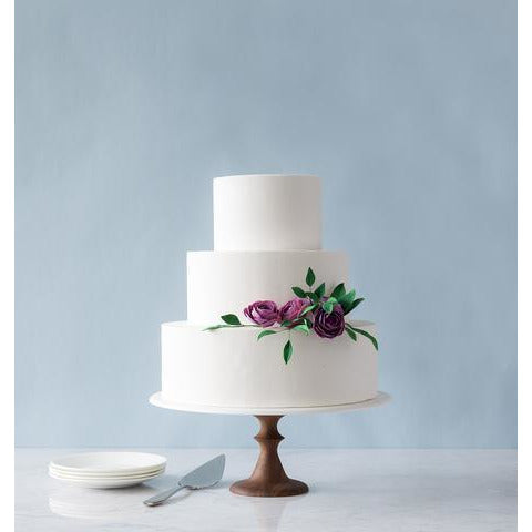 Walnut Wedding Cake Stand - 12 inches - Sweet Layer Cake