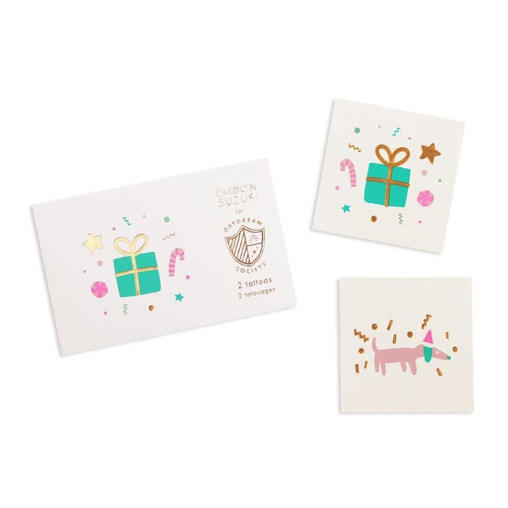Merry and Bright Christmas Temporary Tattoos