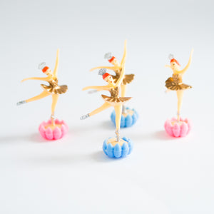 Gold Ballerina cake toppers (4 pack) - Sweet Layer Cake
