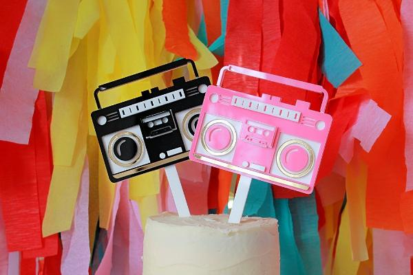 Retro Radio Cake Topper