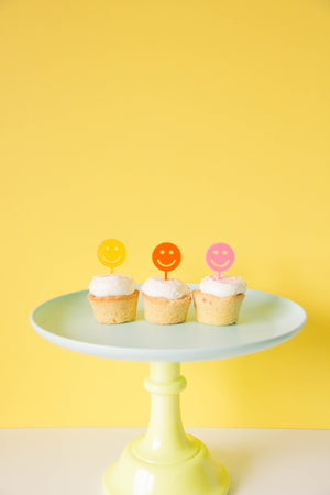 Smiley Face Treat Toppers - Sweet Layer Cake