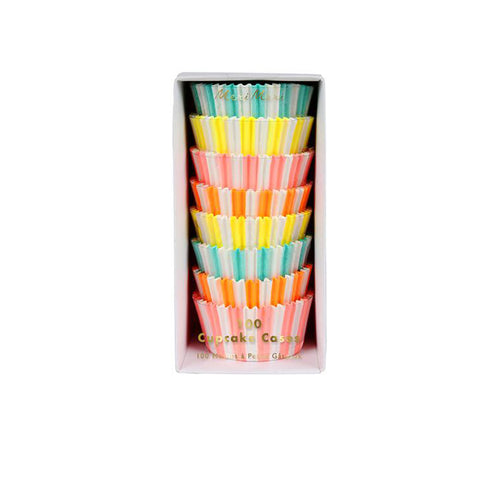 Neon Stripe Cupcake Cases - Sweet Layer Cake