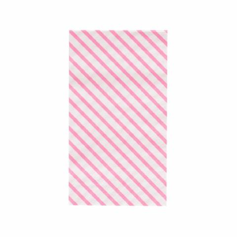 Stripes Dinner Napkins - Neon Rose - Sweet Layer Cake