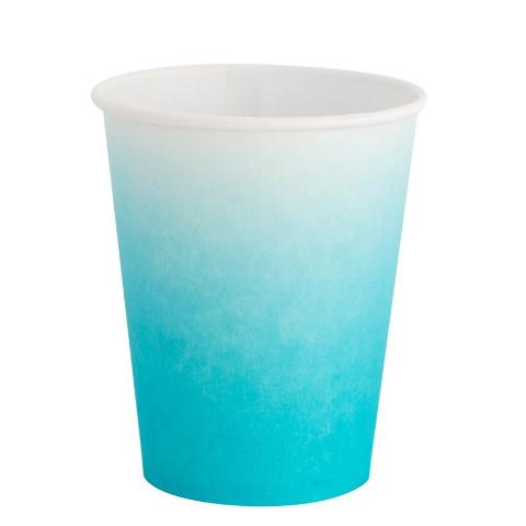 Sky Blue Ombre Cups - Sweet Layer Cake
