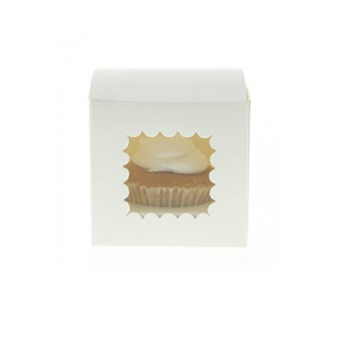 White Scallop Cupcake Box - Sweet Layer Cake