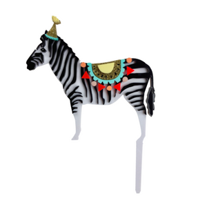 Hey Party Zebra Cake Topper
