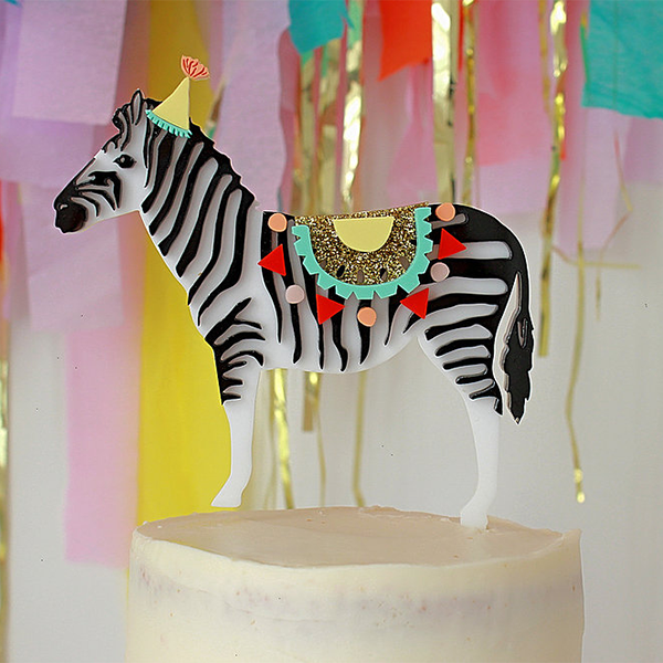 Hey Party Zebra Cake Topper - Sweet Layer Cake