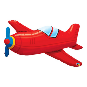 Red Vintage Airplane Balloon - Sweet Layer Cake