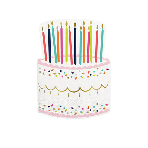 Birthday Cake Napkins- set of 20 - Sweet Layer Cake