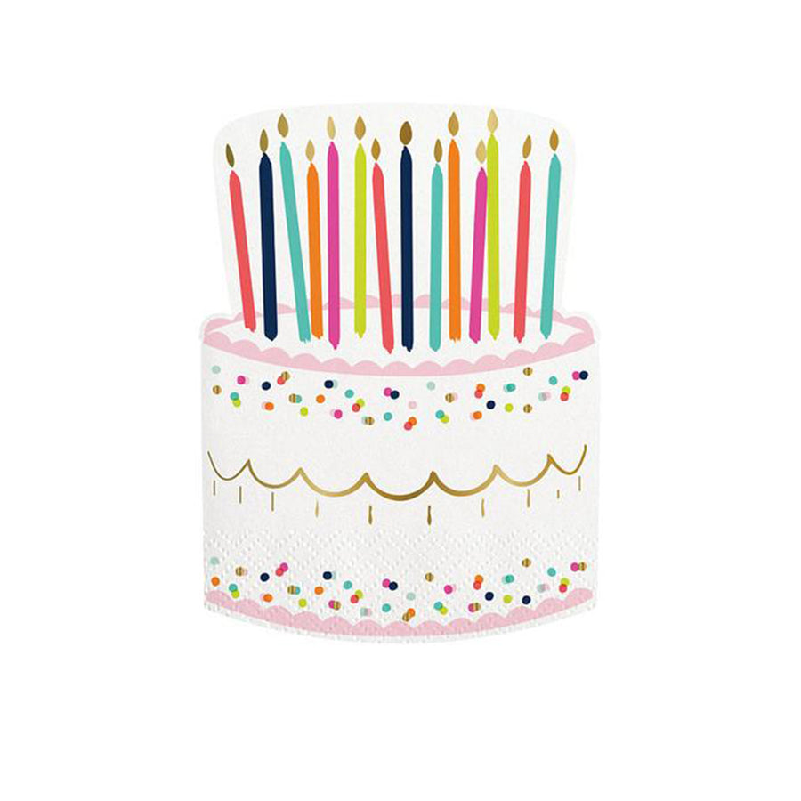 Birthday Cake Napkins - Sweet Layer Cake