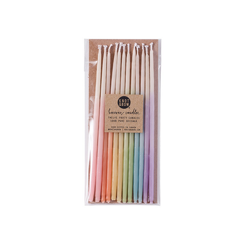 Tall Pastel Ombre Beeswax Party Candles - Sweet Layer Cake