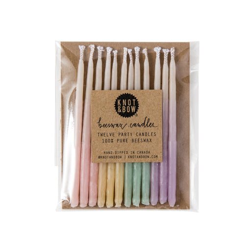 Assorted Ombre Beeswax Party candles - Sweet Layer Cake