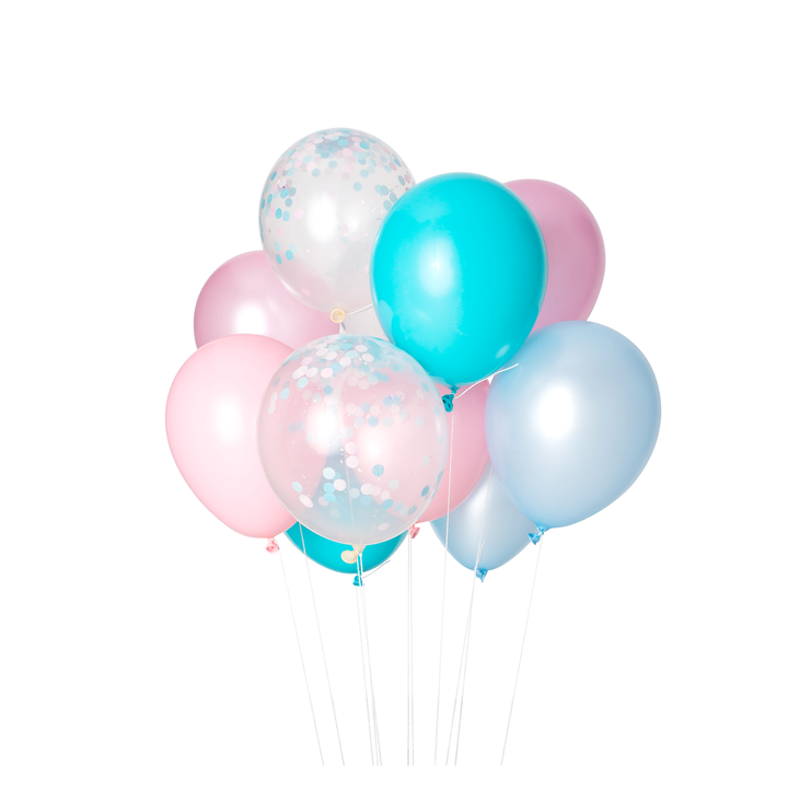 Cotton Candy Party Balloons - Sweet Layer Cake
