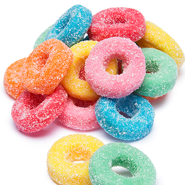 Sour Gummy Rings - Sweet Layer Cake