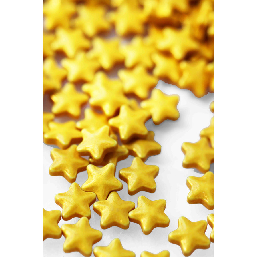 Shimmer Gold Star Candies - Sweet Layer Cake