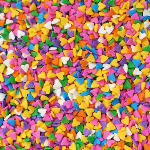 Rainbow Heart Confetti - Sweet Layer Cake