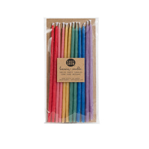 Tall Rainbow Beeswax Candles - Sweet Layer Cake