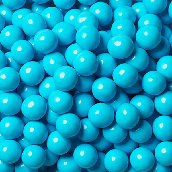 Light Blue Chocolate Balls - Sweet Layer Cake
