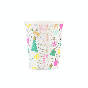 Merry and Bright Christmas Party Cups