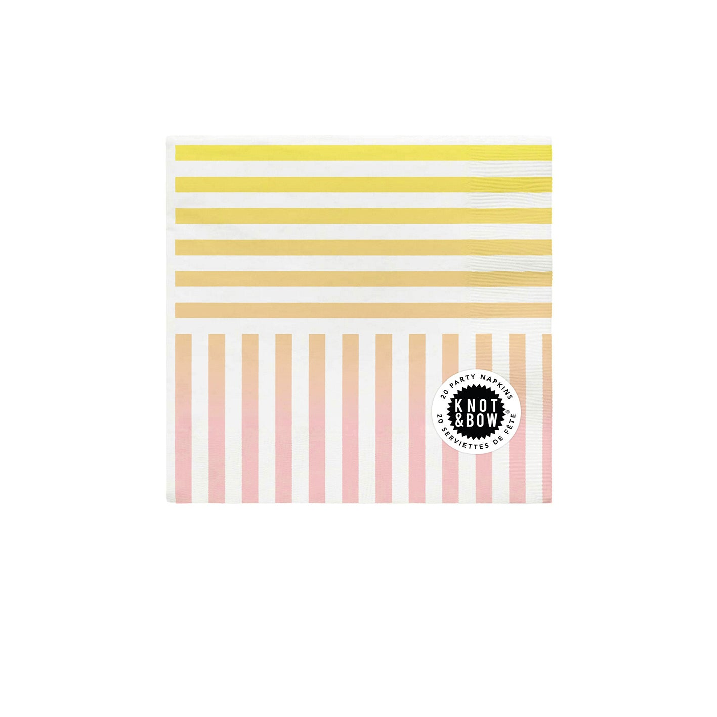 Rainbow Stripe Party Napkins - Sweet Layer Cake