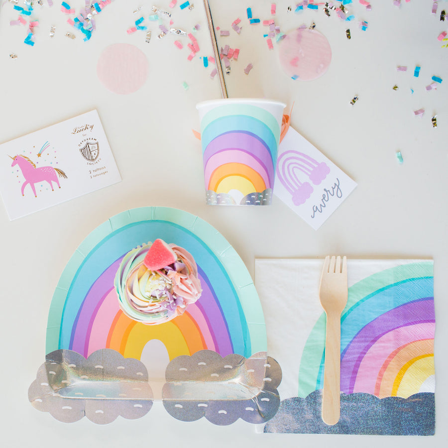 Over The Rainbow Plates - Sweet Layer Cake