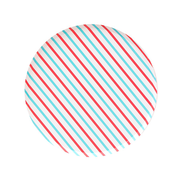 Cherry & Sky Stripes (Large) - Sweet Layer Cake