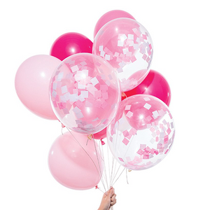 Pink Party Balloons - Sweet Layer Cake