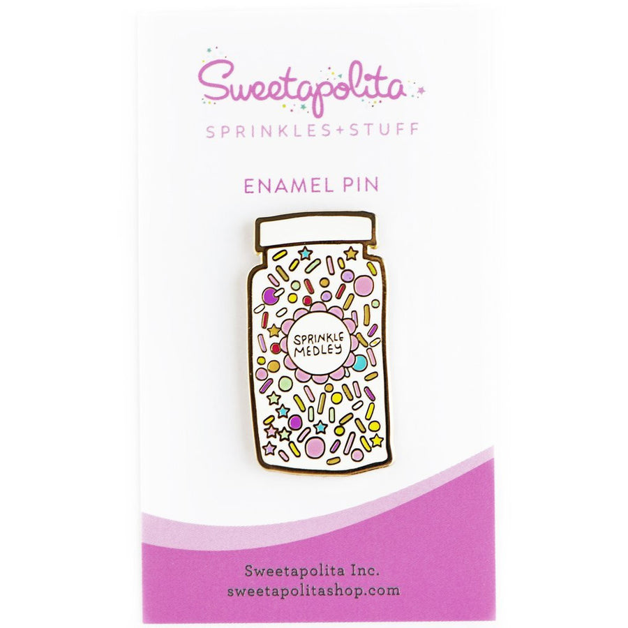 Sprinkle Medley Enamel Pin - Sweet Layer Cake
