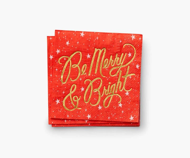 Rifle Paper Co Be Merry and Bright Christmas Napkins