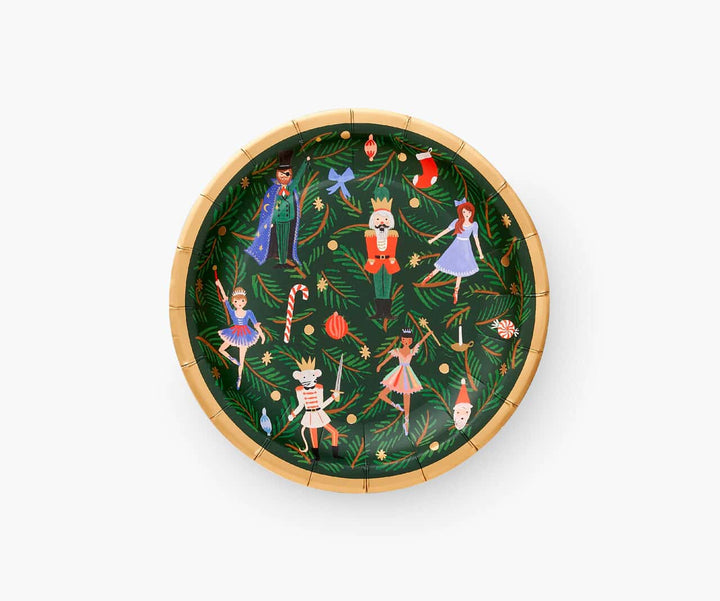 Nutcracker Christmas Party Plates