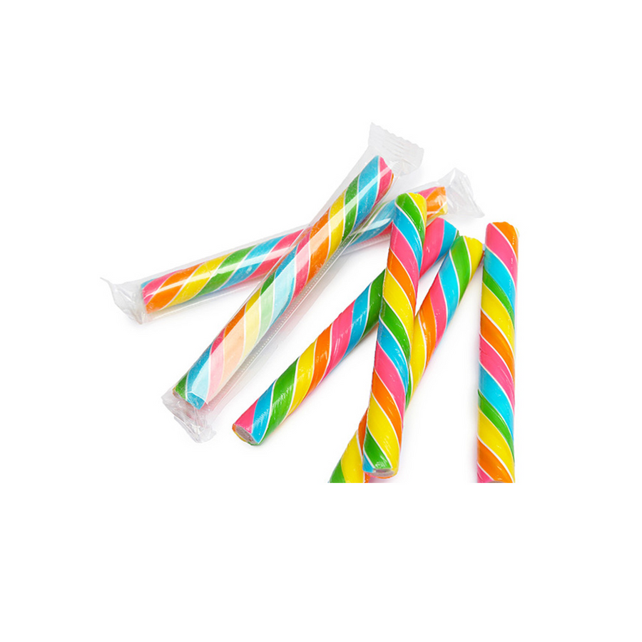 Rainbow Hard Candy Sticks - Sweet Layer Cake