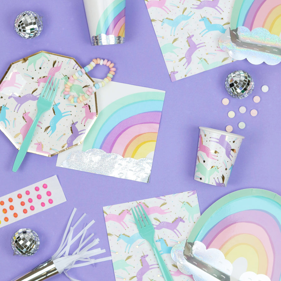 Magical Unicorn Plates - Sweet Layer Cake