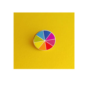 Bright Colour Wheel Enamel Pin - Sweet Layer Cake
