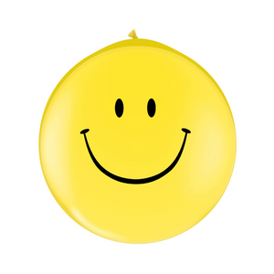 Yellow Smiley Face Balloons - Sweet Layer Cake
