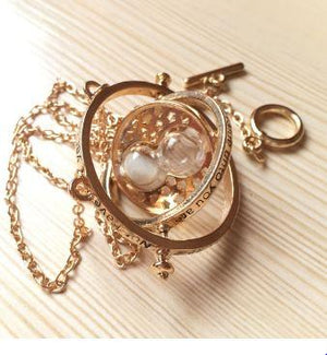 Time Turner Rotating Hourglass Necklace