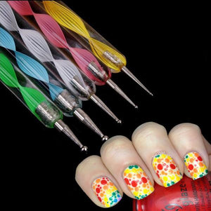 5 pcs /set 2 Way Nail Art Pen - Trendiscovery