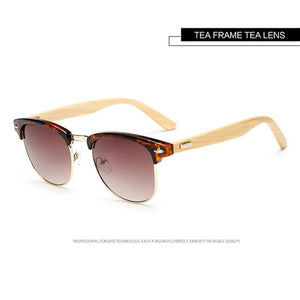 Clubmaster Bamboo Sunglasses - Trendiscovery