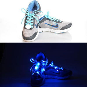 New Night Party Dancing Glisten LED Shoelaces Light up Flashing Shoe Laces or Fluorescence Shoelaces Rave Party BS