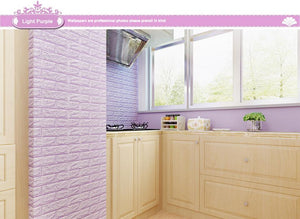 3D Brick Adhesive Wall Stickers - Trendiscovery