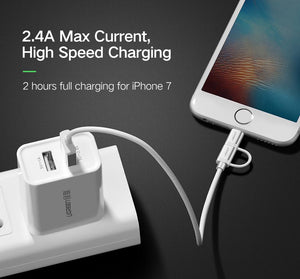 2 in 1 Speedy Lightning and Micro USB Cable - Trendiscovery