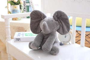 Peek A Boo Elephant Stuffed Plush Toy