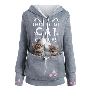 Cat Pouch Hoodie Sweatshirt(Plus Size) - Trendiscovery