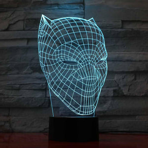 3D Black Panther LED Lamp - Trendiscovery
