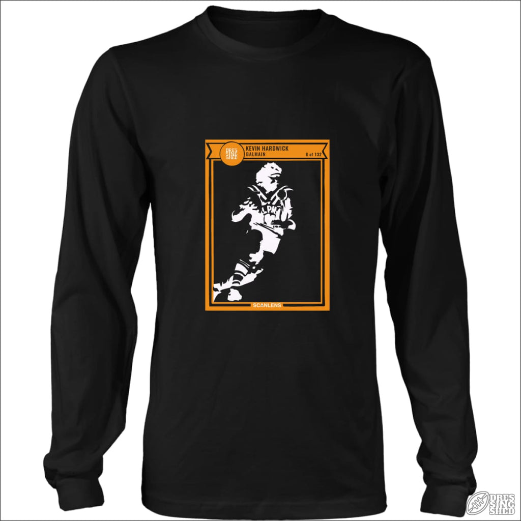 Rugby League Long sleeve T-shirt Balmain Footy Card District Long Sleeve Shirt / Black / S Longsleeve