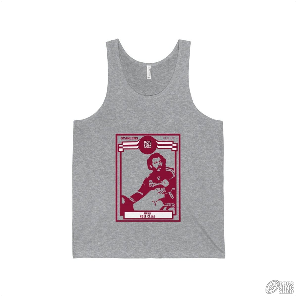 Rugby League Singlet Manly Footy Card Athletic Heather / S Tank Top