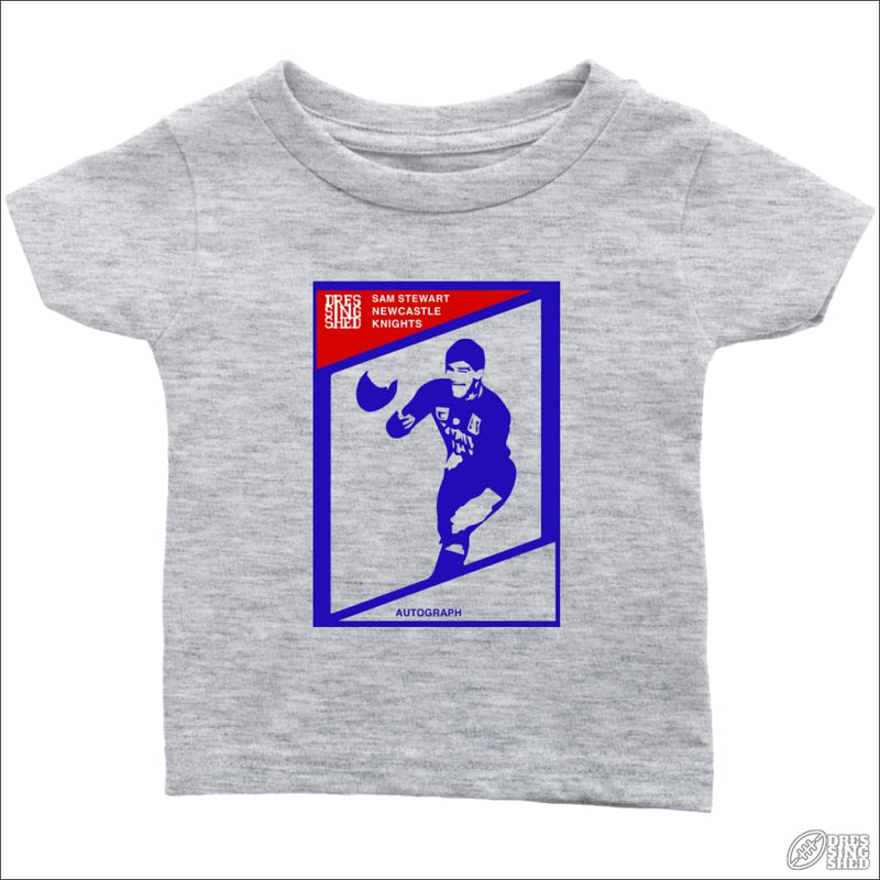 Rugby League T-shirt Infant Newcastle Footy Card Infant T-Shirt / Heather Grey / 6M Kids clothes